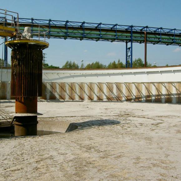 obnova nátěrů usazovacích nádrží ČOV – OVaK