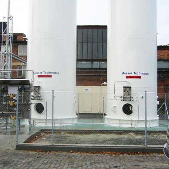 obnova nátěrů zásobníků vodíku – Messer Technogas