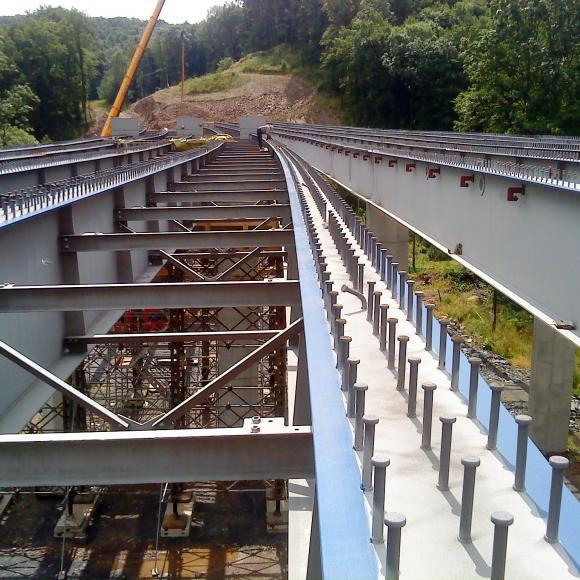 mostní konstrukce přes údolí Ohrozima - Mokré Lazce